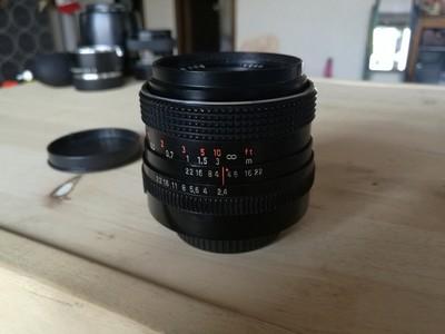 东蔡35 2.4 带有小微距功能 镜片干净,M42卡口