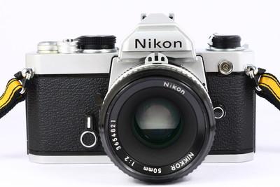 尼康 NIKON FM 日产135胶片单反相机 + nikkor 50/2镜头
