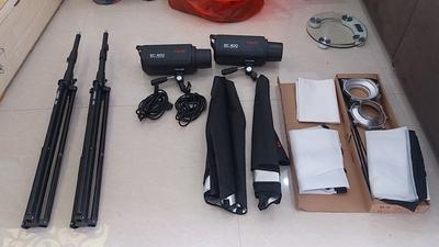 99%成新 一口价金贝摄影灯EC400W 闪光灯影室灯(2个)