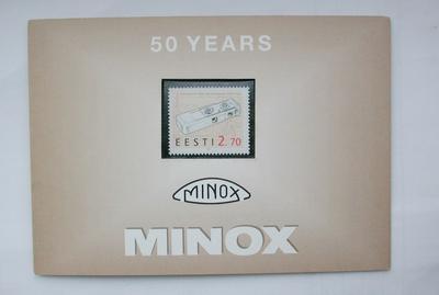 Minox 美乐时50周年纪念邮票!