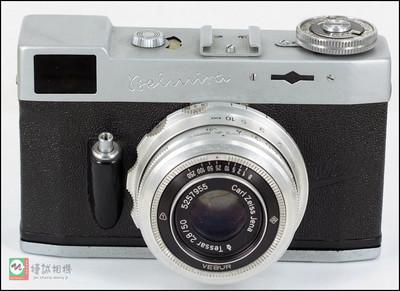 特价德国早期生产的135旁轴胶片相机卡尔·蔡司天塞50/2.8镜头