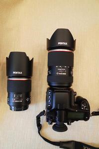宾得 645Z机身,原装90mm微距定焦镜头和原装28-45mm镜头
