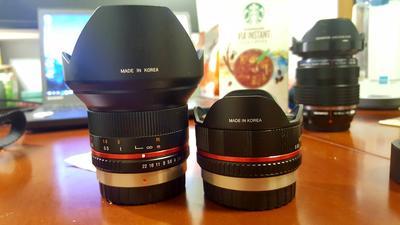 Rokinon 三阳 M43 超广角/鱼眼 12mm F2.0 / 7.5mm F3.5