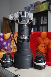 尼康ais300/2.8ED,带原厂铝箱,送2X增倍镜