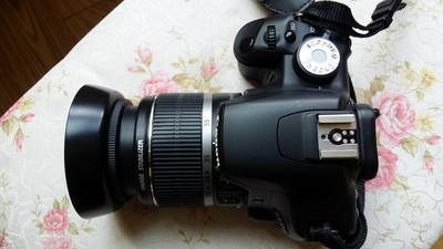 佳能 500D套机(带18-55),含遮光罩、金刚膜、相机包、电池2块