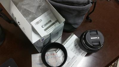 行货佳能 EF 50mm f/1.4 USM刚10月9日温州鸿运楼买的