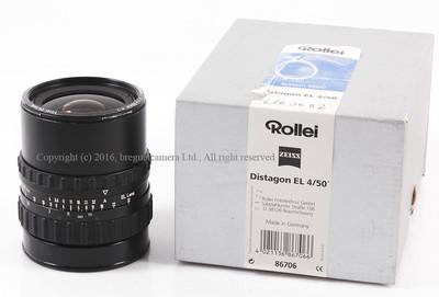 【美品】 Rollei/禄来 Zeiss Distagon EL 50/4 Lens #HK6936X