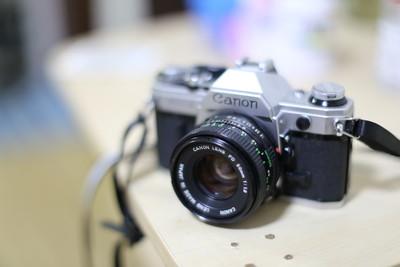 小清新利器佳能 AE-1加50 1.8镜头,外送三卷金科达胶卷