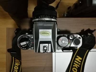 出9新银色尼康FA胶片单反+AIS50 f1.4镜头