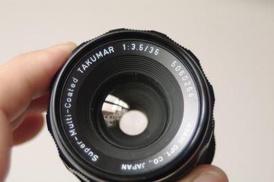 宾得太苦玛 S-M-C 35mm f3.5 M42手动镜头