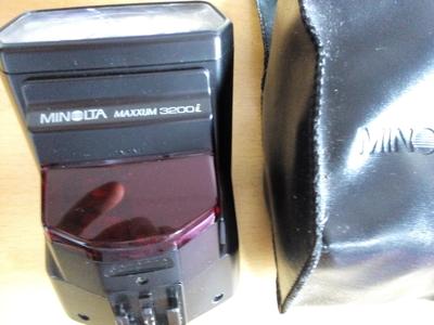 Minolta 美能达 maxxum 3200i 闪光灯