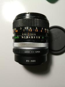 佳能FD50 1.4SSC带fd-nex手动接环包中通快递