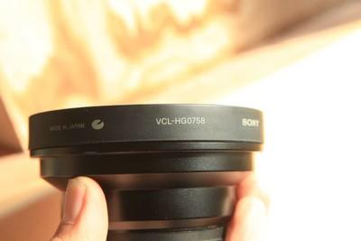 日本原装索尼VCL-HG0758摄像广角附加镜头58螺纹