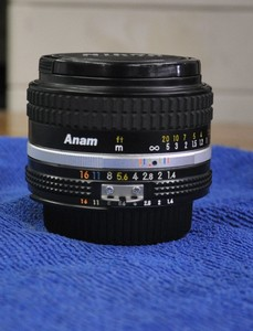 尼康 nikkor 50mm/F1:1.4  手动镜头