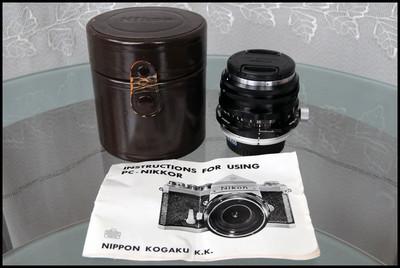 Nikon PC 35/3.5 移轴、ai 口 数码适用,带原厂皮桶、说明书